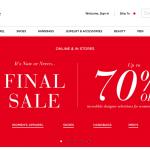 Saks Fifth Avenue サックスフィフスアベニューの通販サイト購入方法