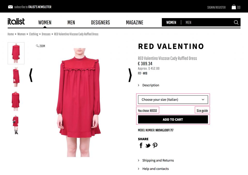 Italist 通販の購入方法