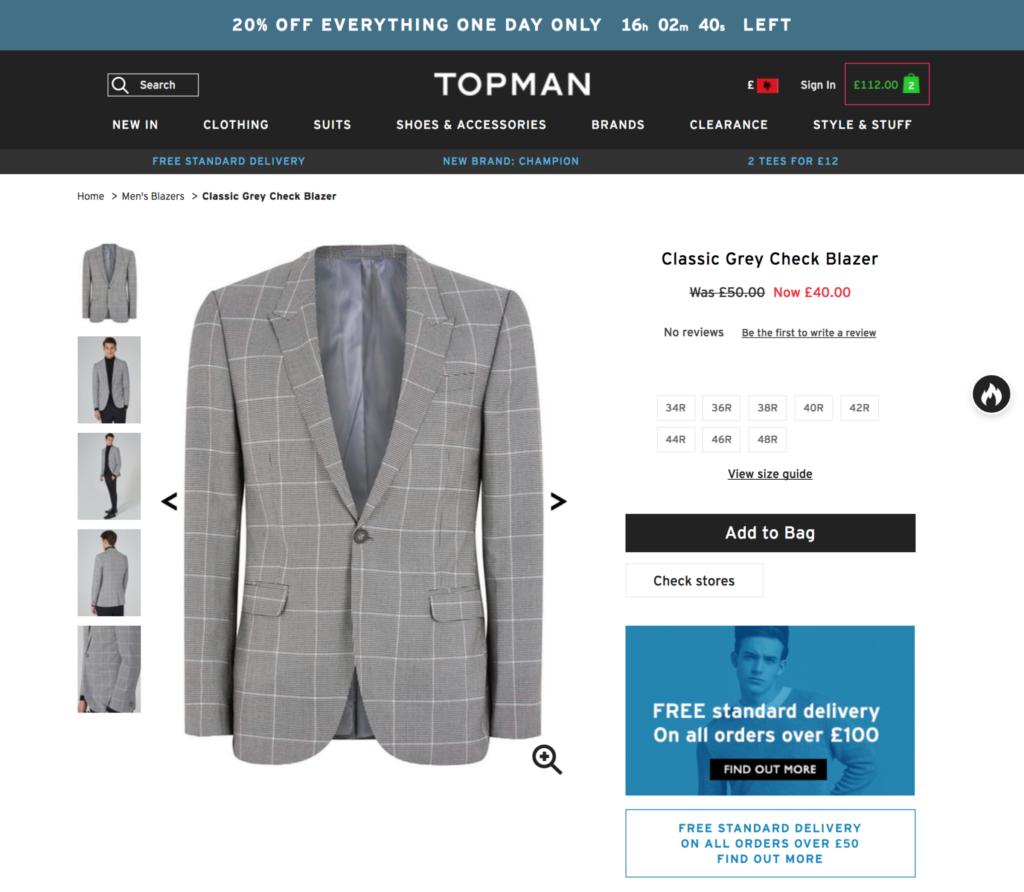 TOPMAN 通販の購入方法