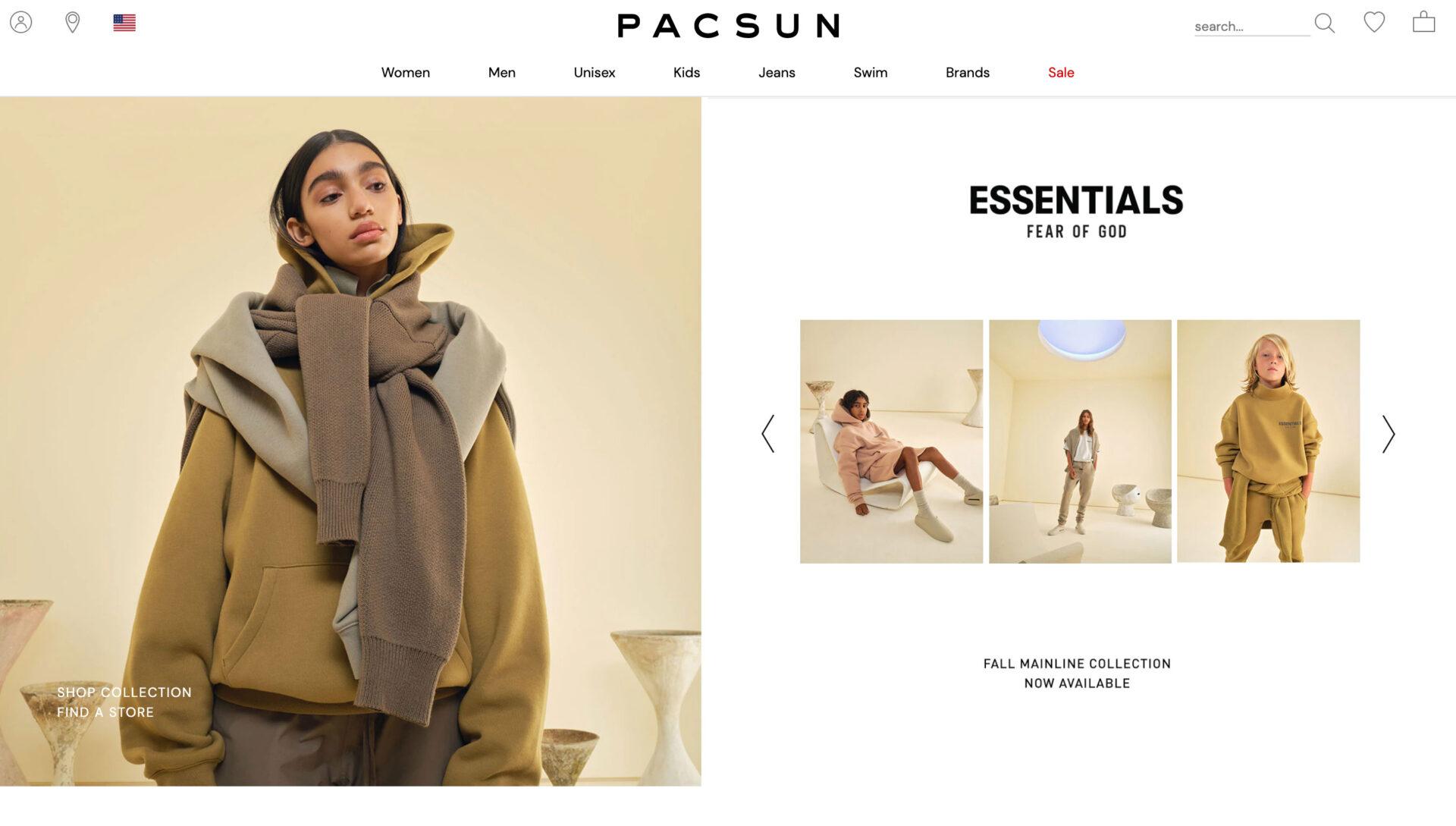 PACSUN パシフィック サンウェア オブ カリフォルニアの海外通販